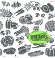 Seamless pattern with monochrome decorative vector image