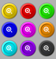 target icon sign symbol on nine round colourful vector image vector image