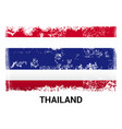 thailand flag design vector image