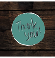 thank you card design template vector image vector image