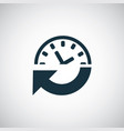 time arrow watch icon for web and ui on white vector image vector image