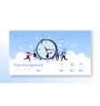 time management landing page template vector image