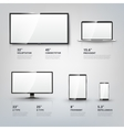 TV screen Lcd monitor notebook tablet computer vector image vector image