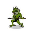 Villain Dragonhead vector image vector image