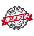 washington round ribbon seal vector image vector image