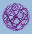 abstract transparent textured sphere vector image
