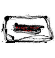 black ink drip stroke frame or border on white vector image
