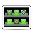 Sight green app icons vector image