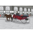 Horse Drawn Carriage on the Street vector image