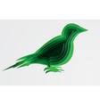 paper art and craft of environment with bird vector image