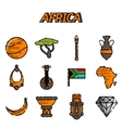 Africa flat icons set vector image vector image