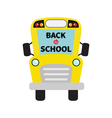 Back to school Yellow school bus kids Cartoon vector image vector image