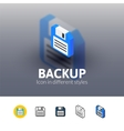 Backup icon in different style vector image