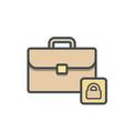 bag briefcase business lock portfolio vector image