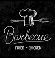 barbecue typographical concept vector image vector image