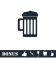 Beer icon flat vector image vector image