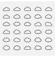 Big set black cloud shapes icons vector image