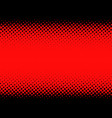 black and red dotted halftone background vector image vector image