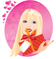 blond girl portrait vector image