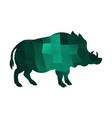 boar emerald vector image vector image
