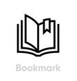 bookmark icon editable stroke vector image vector image