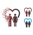 broken pixel halftone marriage icon vector image