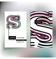 Business card design with letter s vector image