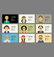 Business cards with people portraits for your