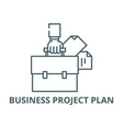 business project plan line icon business vector image vector image