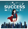 businesswomen superhero flying fast for business vector image vector image