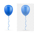 celebratory blue transparent balloons pumped vector image vector image