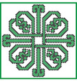 Celtic endless knot in square clover with hearts e vector image vector image