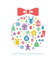 Christmas and New Year greeting card template vector image vector image