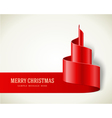 Christmas red tree from ribbon vector image vector image