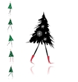 Christmas tree girl for your design vector image