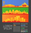 city skyline infographic and statistics elements vector image vector image