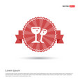 cocktail drink icon - red ribbon banner vector image