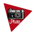 Color vintage photographer emblem vector image
