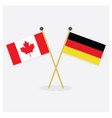 crossed canada and germany flags icons with shadow vector image