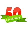 Cute Template 50 Years Anniversary Sign vector image vector image