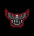 eagle emblem mascot logo vector image vector image