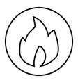fire thin line icon burn vector image