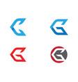 g letter logo template design vector image