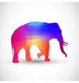 Geometric silhouettes animals Elephant vector image