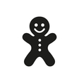 Gingerbread man icon on white background vector image vector image