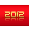 gold 2012 vector image vector image