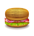 Grilled sandwich isolated on white vector image vector image