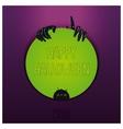 Halloween label design vector image vector image