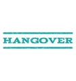Hangover Watermark Stamp vector image vector image