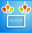 Happy birthday colorful applique background vector image vector image